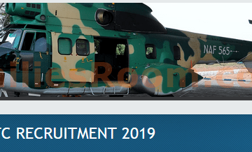 2019 Nigerian Air Force Registration Recruitment & Requirements
