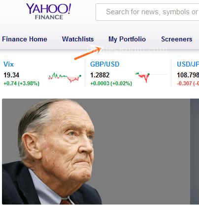 Yahoo Stock Portfolio Managing Guide