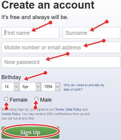 How To Set Up New Facebook Account | FB.com Registration
