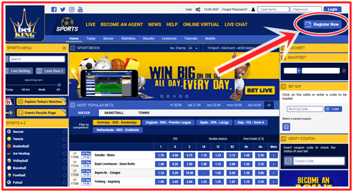 How To Create BetKing Nigeria Account, BetKing Mobile - BetKing Login