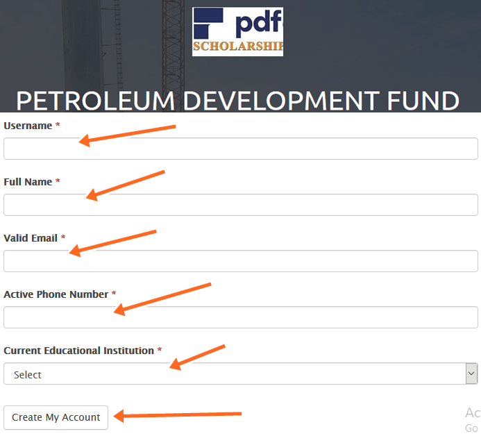 How To Apply for Free Petroleum Development Fund Scholarship
