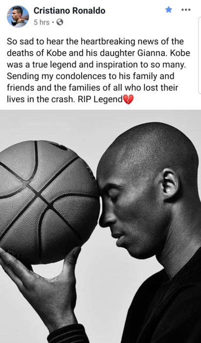 Ronaldo tribute to kobe