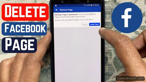 How To Remove Facebook Page Via Your Facebook App
