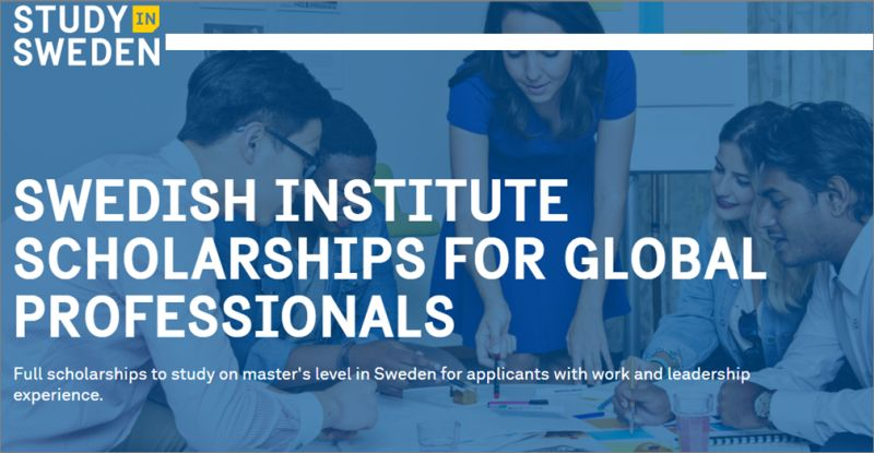 2021 Swedish Institute Scholarship for Global Professionals