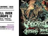 [PREVIEW] HELL OVER EUROPE II – ABORTED+BENIGHTED+ CRYPTOPSY+CYTOTOXIN – 2.11 – Le Noumatrouff – Mulhouse (68)