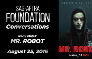Watch: SAG Conversations with Rami Malek of 'Mr. Robot'