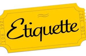 Audition Etiquette