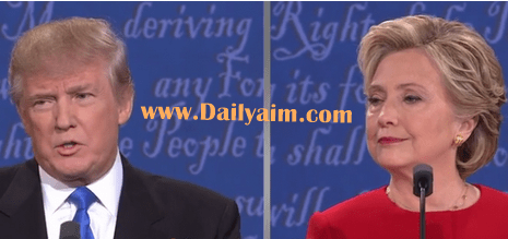 First Presidential Debate Video Hillary Clinton and Donald Trump
