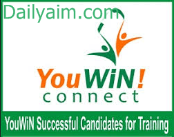 YouWiN List of Successful Participants for Online Training