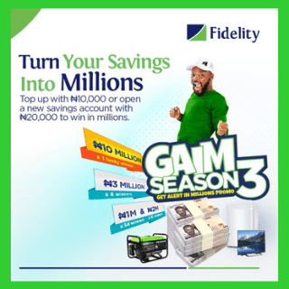 Fidelity Bank Live Video To Gain a Way To Millions