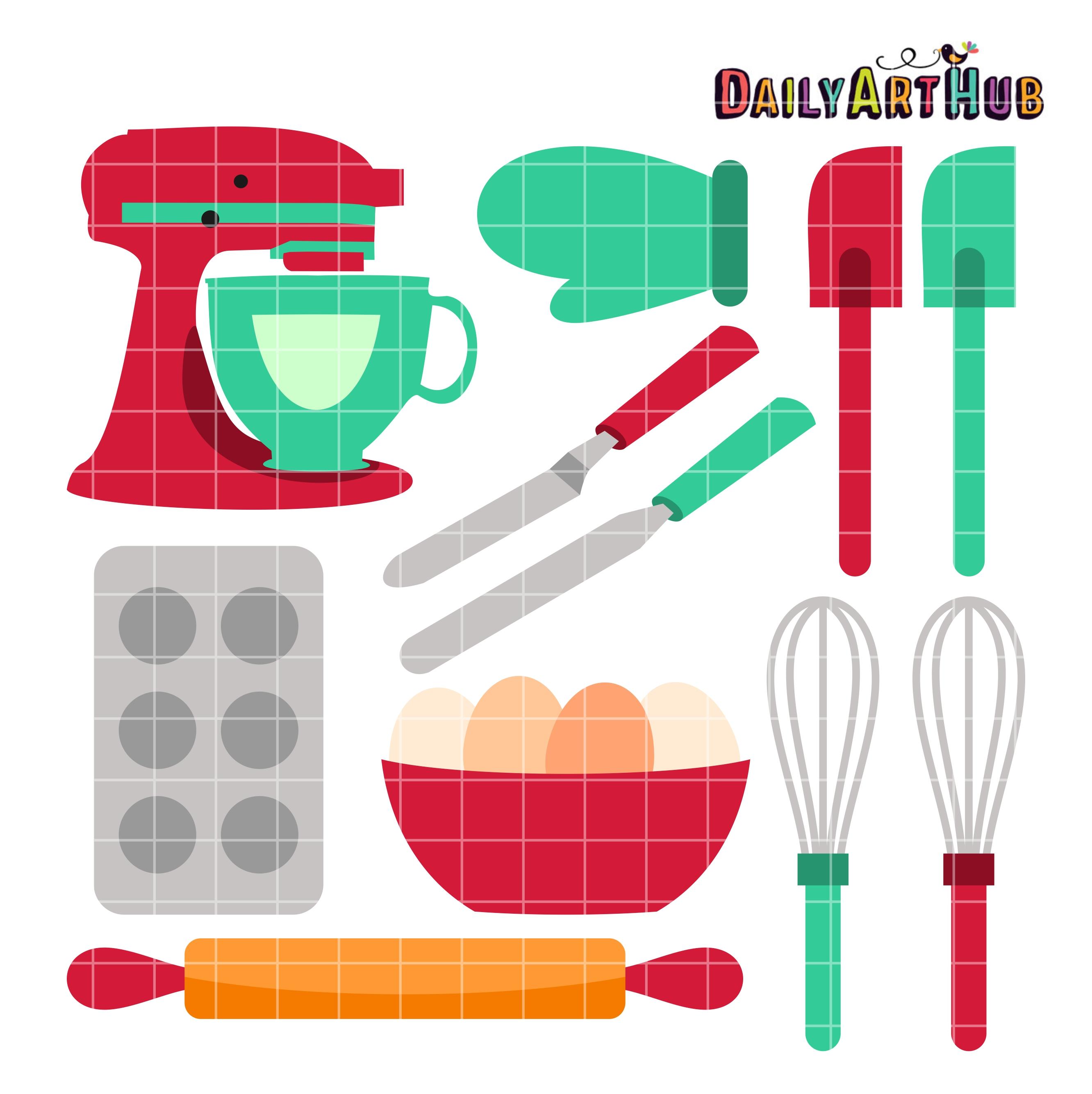 Baking Tools Clip Art Set Daily Art Hub Free Clip Art