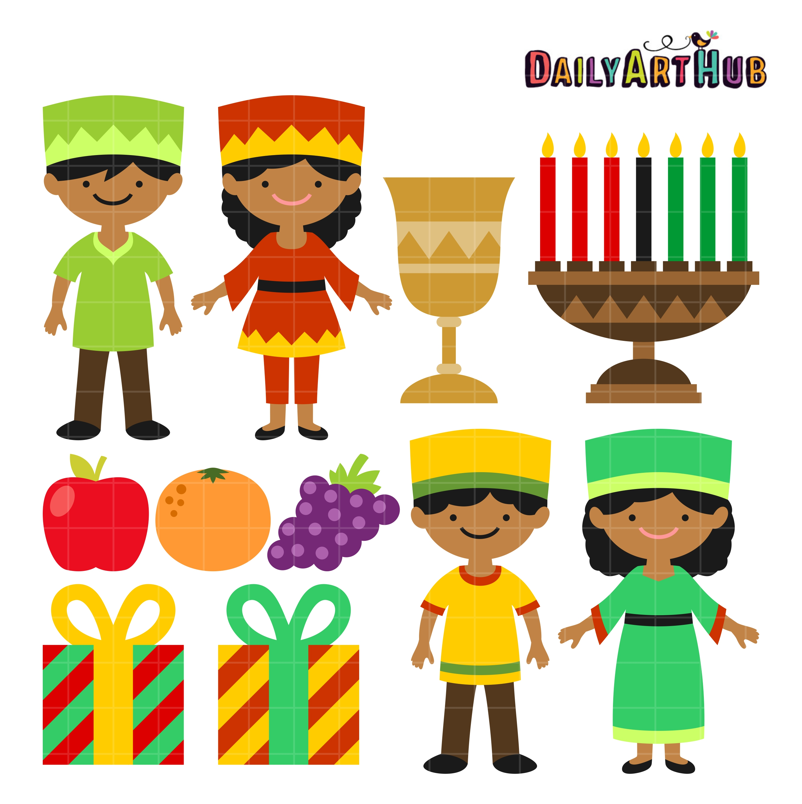 Happy Kwanzaa Kids Clip Art Set Daily Art Hub Free