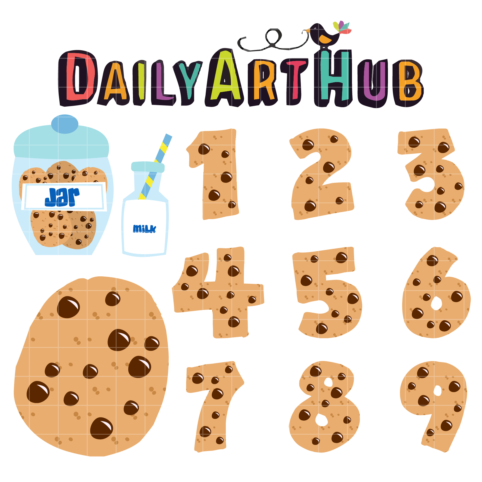 Cookie Numbers Clip Art Set Daily Art Hub Free Clip