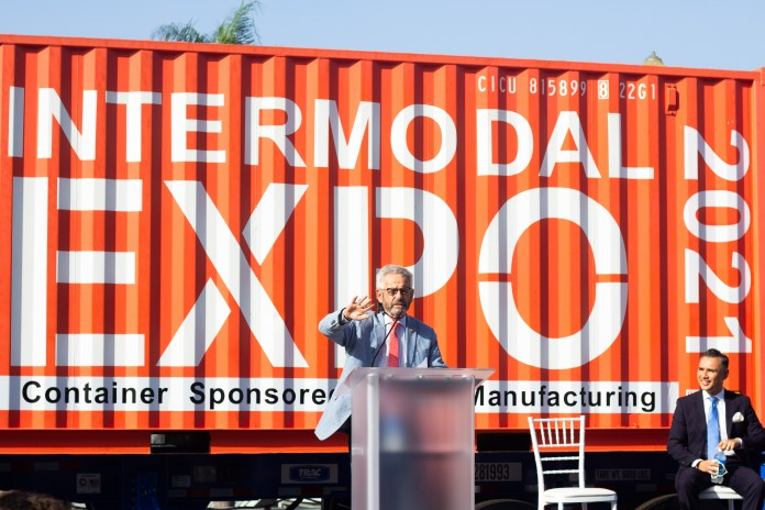 Cargo records, climate change, infrastructure bill key topics at trade-related expo in Long Beach