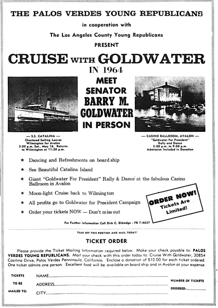 South Bay History: Republican Candidate Barry Goldwater Brings His Presidential Campaign to the South Bay in 1964