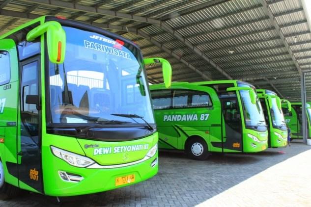 Foto Gambar Bus Pandawa87 di Garasi Pasuruan Terbaru