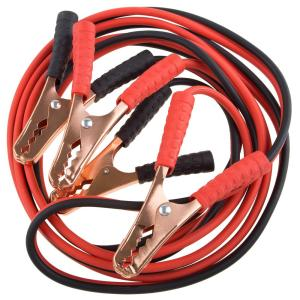 Features: Heavy-duty cable clamp. With dual construction and extra strong-grip copper teeth. Battery booster cable is a great to have in cars in case of emergencies. Specifications: Material: Copper+PVC Length: 4 Metres Current: 1000A Package: Zipper bag.