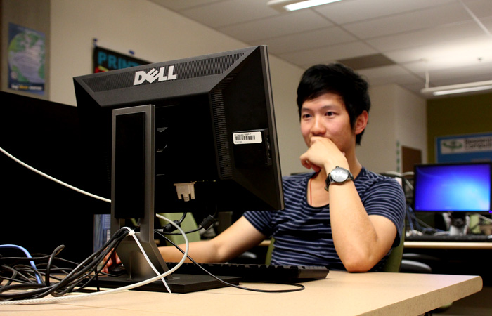 All students, like Patrick Chen, above, will be able to access bConnected by June 2013 at the latest.