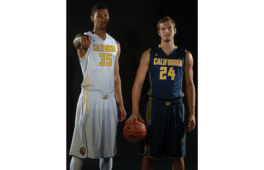 new style ae5d9 8bf26 Cal unveils new swanky, spotted men's basketball uniforms ...