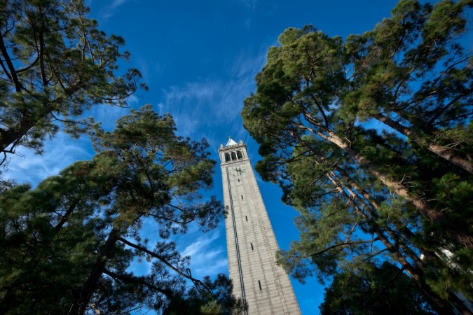 Campanile with Trees