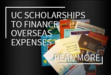 UC Scholarships to finance overseas expenses.