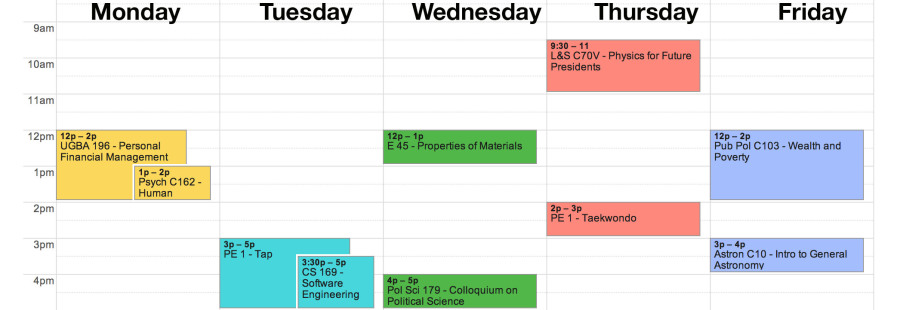 Your spring semester schedule: awesome classes you should take | The