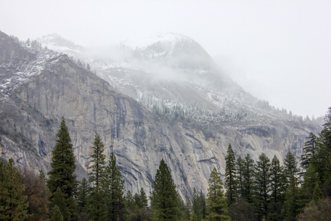 Misty mountain at Yosemite National Park