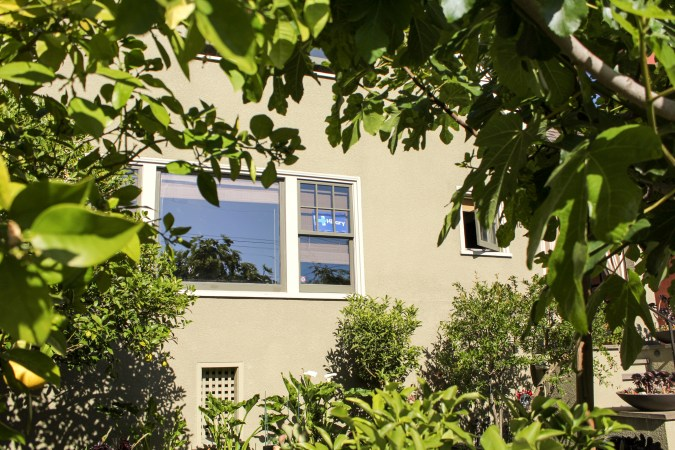 Hillary sign in window of North Berkeley residence