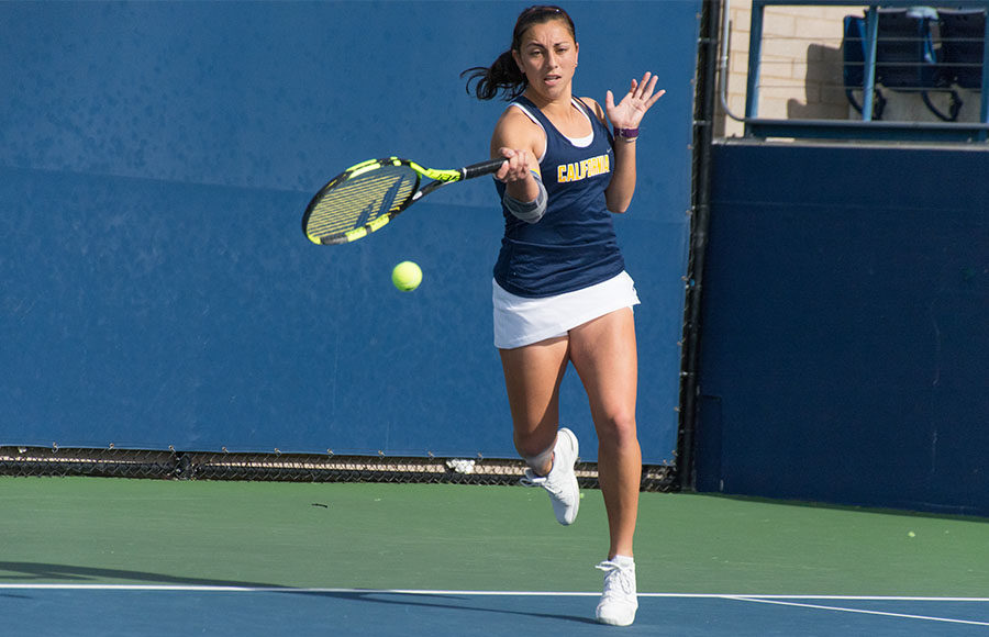 Rainy weather doesn't faze Cal women's tennis against