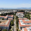 UC Berkeley campus with view of the Bay