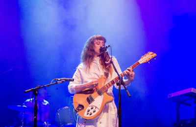 Katie Crutchfield of Waxahatchee plays lead guitar.