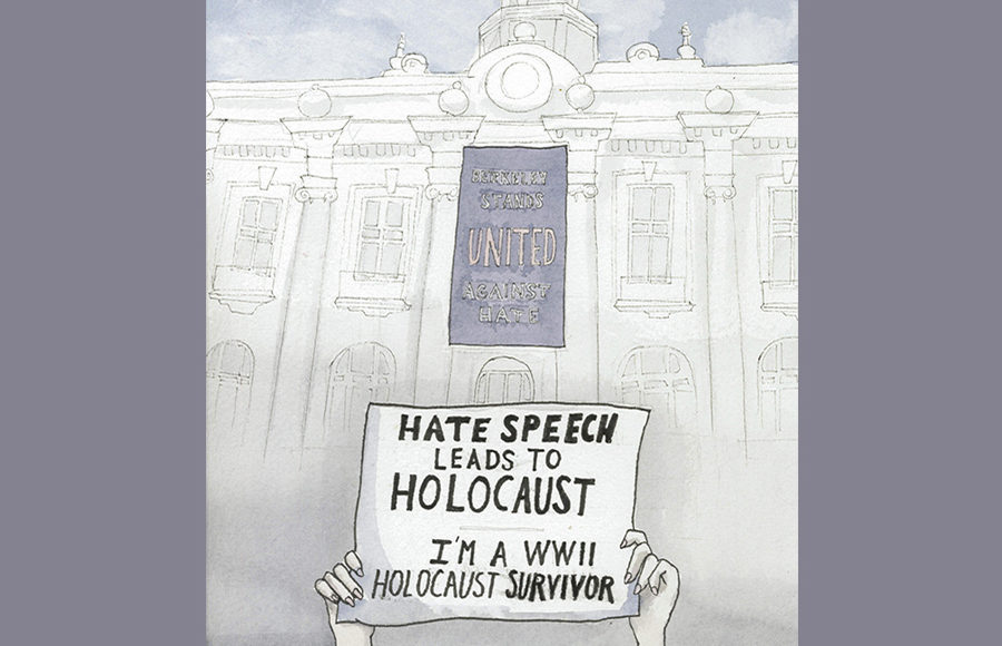 Protesting hate speech