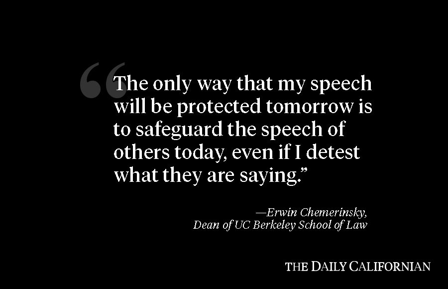 campus abides by first amendment protects free speech