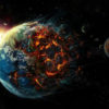 world burning in space regarding a poem about hedonism