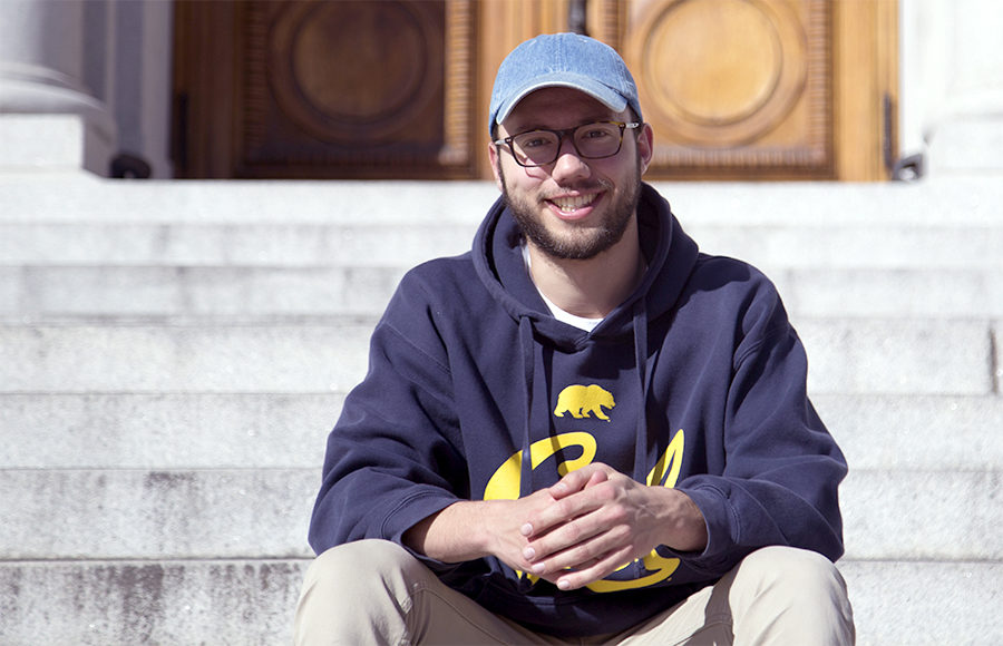 Elias Sebti, a UC Berkeley junior whose research is on developing better batteries