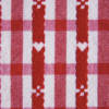 Plaid tablecloth with heart shapes