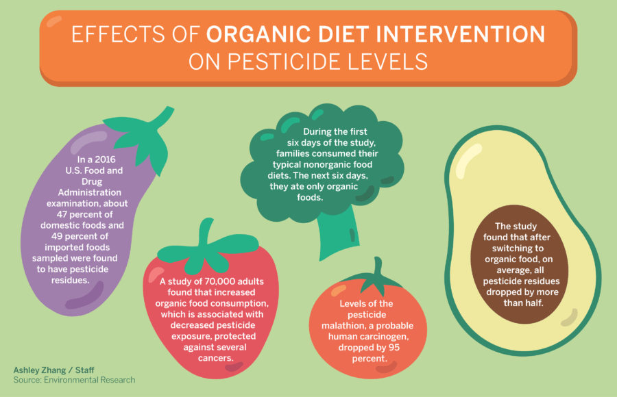 Facts about organic diet intervention on fruits and vegetables