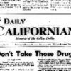 A screenshot of an old copy of The Daily Californian.
