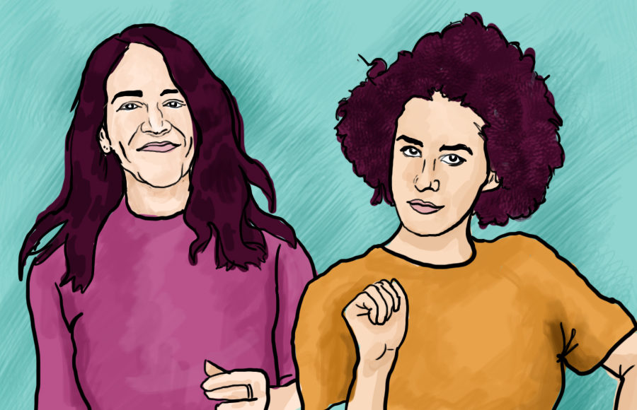 Two characters from Broad City