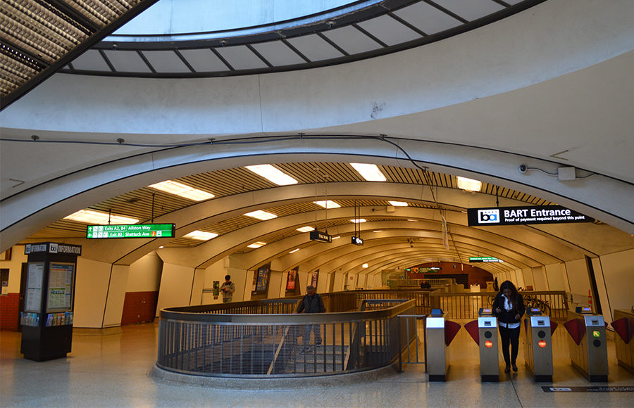 Inside of Berkeley BART station