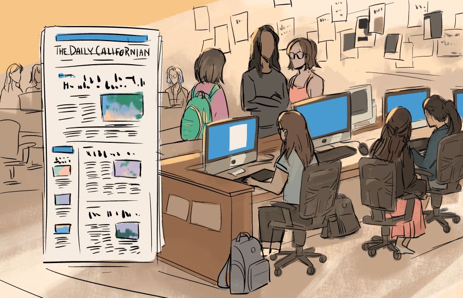 People working at the Daily Cal office