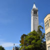 The Campanile tower stands on a sunny day.