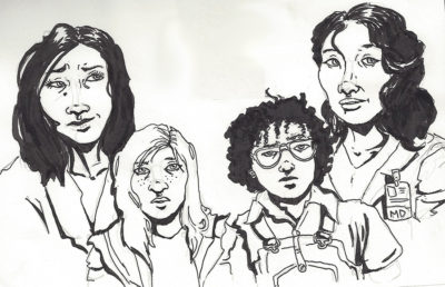 Illustration of characters from ABC shows