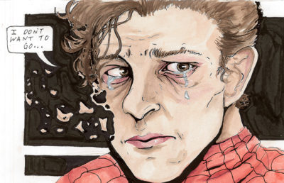 Illustration of Tom Holland as Spiderman