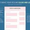How to make your resume clear and legible