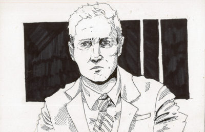 Illustration of main character of Mindhunter