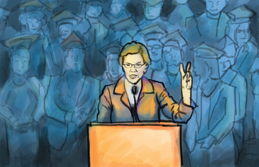 Illustration of Elizabeth Warren