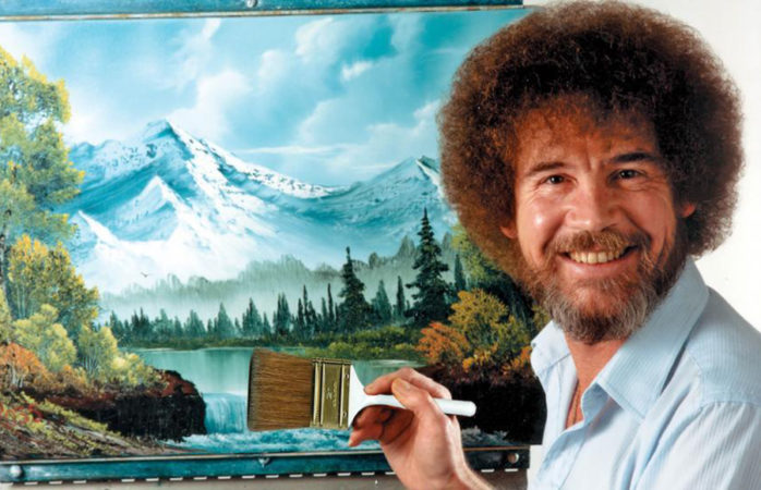 Why Bob Ross gave me gray hairs: A spiral into stressful finger painting