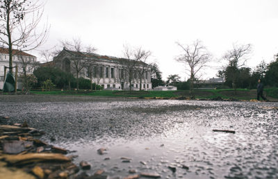 Photo of UC Berkeley in the rain