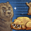 Illustration of three bears in varying stages of emotional stress